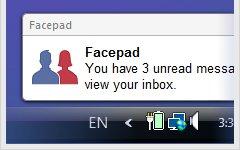 Facepad Desktop Notification